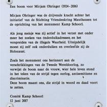 3) Informatiebord  'Een boom voor Mirjam Ohringer'