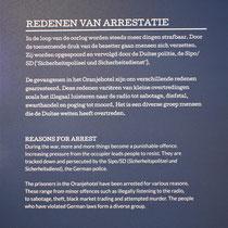 Informatiebord over redenen van arrestatie