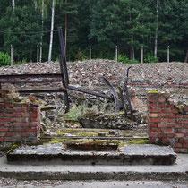 Ingang voormalig crematorium Birkenau