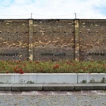 Muur met nationaliteiten die vastzaten in Ravensbrück