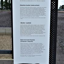 Informatiebord over kampgevangenis