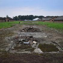 Restanten stenen barak Birkenau