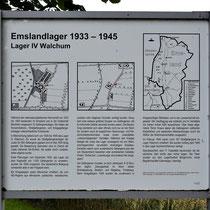 01. Informatiebord Lager IV Walchum - staat bij de locatie van het voormalige kampterrein