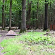 Monumenten op voormalig crematorium