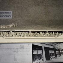 Maquette gaskamer en crematorium Auschwitz 1
