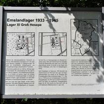 01. Informatiebord Lager XI Gross Hesepe - staat bij de locatie van het voormalige kampterrein