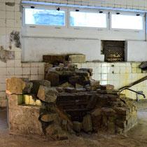Voormalige desinfecteerruimte en later keuken