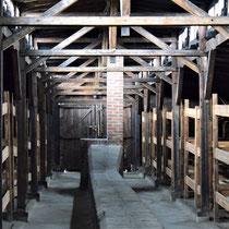Houten barakken Birkenau - slaap barak gevangenen