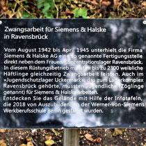 Informatiebord over dwangarbeid in Siemenskamp