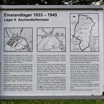 01. Informatiebord Lager II Aschendorfermoor - staat bij de locatie van het voormalige kampterrein