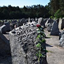 Overzicht memorial stenen - met roos 2