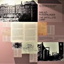 Informatiebord met geschiedenis over het kamp