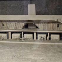 Maquette gaskamer en crematorium Auschwitz 3