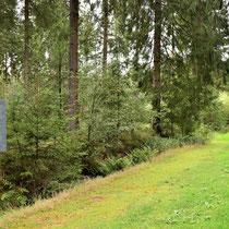 Palen langs weg met informatie over transporten vanuit Westerbork
