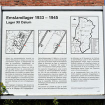 01. Informatiebord Lager XII Dalum - staat bij de locatie  van het voormalige kampterrein
