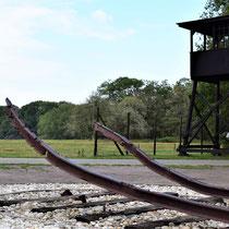 Wachttoren met rails