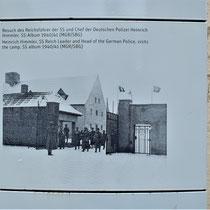 Foto kampingang tijdens bezoek Himmler