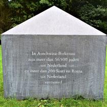 Teken voor de Nederlanders die vermoord zijn in Auschwitz-Birkenau