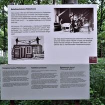 Informatiebord over voormalige noodwoningen