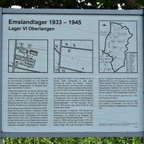 01. Informatiebord Lager VI Oberlangen - staat bij de locatie van het voormalige kampterrein