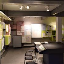 Ruimte met informatieboxen