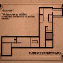 59) Plattegrond crematorium - Lijkenopslag 2 - Is een reconstructie gemaakt van cel 115