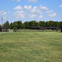 Ingang kamp voor gevangenen Majdanek - van de binnenkant