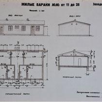 Plattegrond Russisch barak