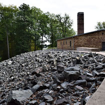 Plek waar het as werd gegooid naast het crematorium