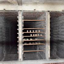 Voormalige ovens in steenfabriek - voor het bakken van de stenen