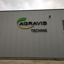 Lichtwerbeanlage Agravis - indirekt u. direkte Beleuchtung