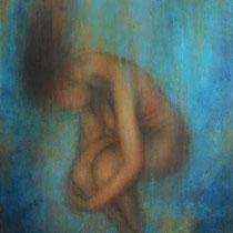 """""""Freier Fall"""" - Öl auf Leinwand 80 x 60 cm, 2020"""