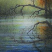 """Schlossgarten"" - Öl auf Leinwand 150 x 100 cm, 2020"
