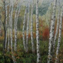 """Birkenwald"" - Öl auf Leinwand 120 x 160 cm, 2007"