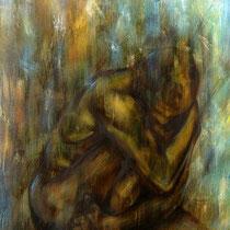 """Versunken"" - Öl auf Leinwand   150 x 100 cm, 2018"