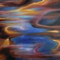 """""""An der Küste"""" - Öl auf Leinwand 100 x 120 cm, 2020"""