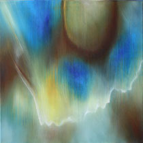 """""""Mit dem Wind 2"""" - Öl auf Leinwand 60 x 60 cm, 2018"""