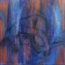 """Akt schwebend"" - Öl auf Leinwand 40 x 40 cm, 2020"