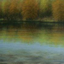 """Krumme Lanke"" - Öl auf Leinwand 100 x 150 cm, 2019"