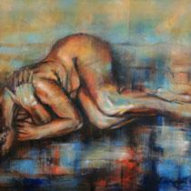 """""""Liegender Akt"""" - Öl auf Leinwand 100 x 130 cm, 2014"""
