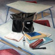 Pädagogischer Rat, 1983, Öl auf Hartfaser, 59x67 cm