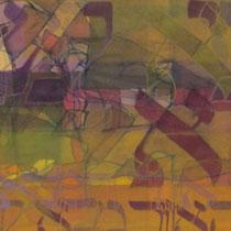 acrylique et feutres sur toile, 30 x 90 cm, 2012