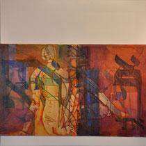 acrylique et feutres sur toile, 60 x 60 cm, 2011 | vendu