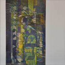 acrylique et feutres sur toile, 50 x 50 cm, 2012