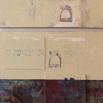 acrylique et feutres sur toile, diptyque 130 x 80 cm, 2012