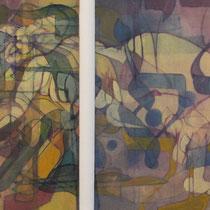 acrylique et feutres sur toile, 30 x 90 cm, 2012 | vendu