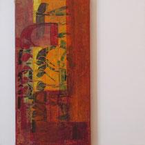 acrylique et feutres sur toile, 50 x 50 cm, 2011 | vendu