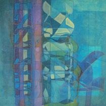 acrylique et feutres sur toile, 60 x 30 cm, 2013