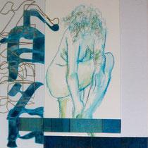 acrylique et feutres sur toile, 30 x 30 cm, 2014 | fr 380
