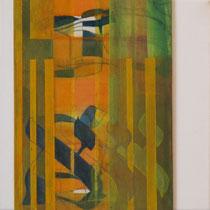 acrylique et feutres sur toile, 30 x 30 cm, 2011  | fr 500